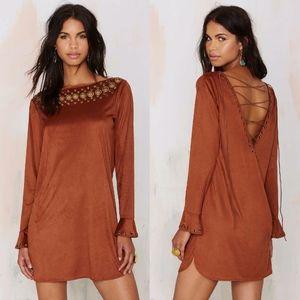 Line & Dot Bijou Lace Up Dress